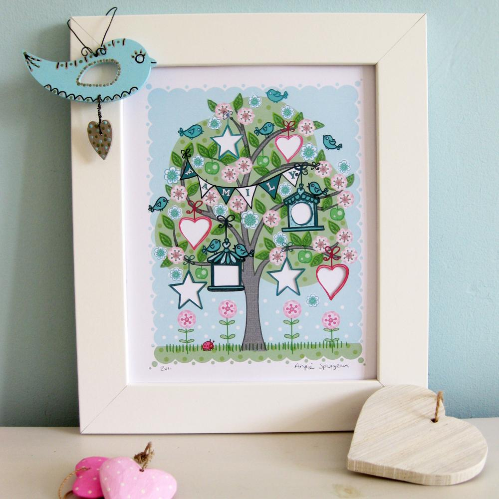 'Family Tree' A4 Unframed Print