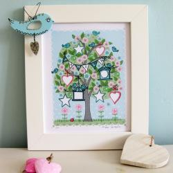 &#039;Family Tree&#039; A4 Unframed Print