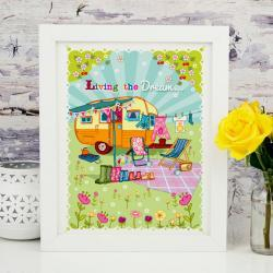 A4 Unframed Illustration Print 'Living The Dream'